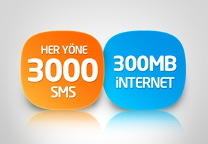 her yone sms internet