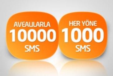 Türk Telekom 1000 + 10000 SMS Paketi – 12 TL