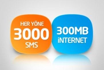 Türk Telekom Her Yöne SMS ve İnternet Paketi – 15 TL
