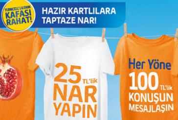 Turkcell 25 TL'ye 100 TL Nar Paketi