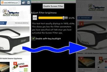 Telefonunuzun Işığını Screen Filter ile Ayarlayın