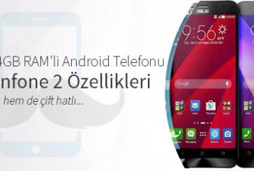 Dünyanın İlk 4GB RAM'li Android Telefonu Asus Zenfone 2 Özellikleri