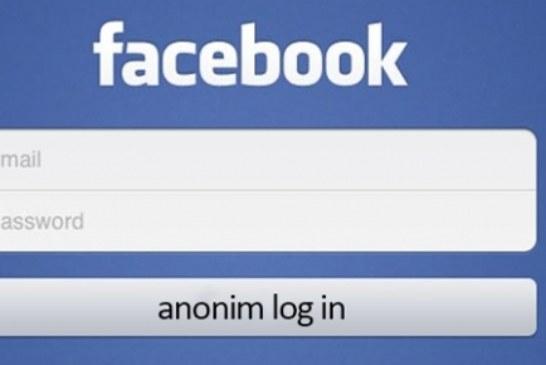 İnternet Sitelerine Facebook ile Girişlerde Anonim Giriş Gelecek