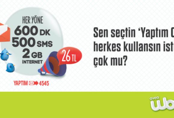 Türk Telekom Woops Yaptım Oldu Paketi – 26 TL