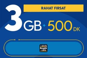 Turkcell Rahat Fırsat 3GB Paketi – 26,68 TL